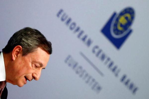 El presiente del BCE, Mario Draghi, tras su reunión este miércoles.