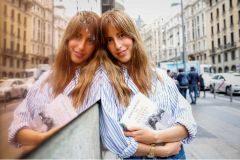"""Berta Bernad fotografiada en Madrid con su libro """"Mi nombre es Greta Godoy"""""""