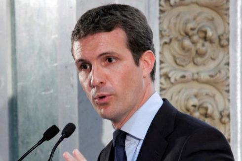 Pablo Casado, durante su intervención en el foro ABC-Deloitte