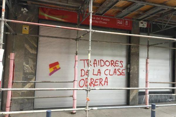 Sede socialista en Galdakao atacada con pintadas