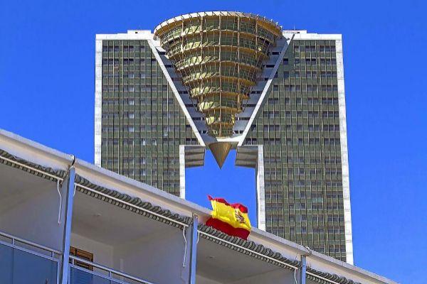 El rascacielos In Tempo, en Benidorm, que comercializará apartamentos de lujo.