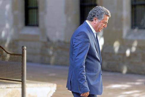 El promotor alicantino Enrique Ortiz, en los juzgados de Benalúa, en una imagen de archivo.