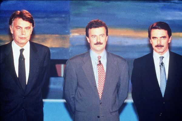 Debate entre González y Aznar en 1993, moderado por Manuel Campo Vidal