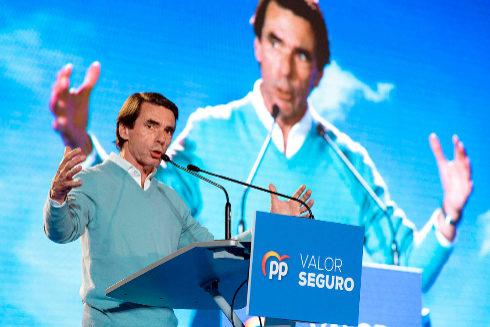 José María Aznar, en un acto del PP en Murcia