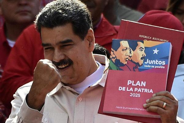 El presidente de Venezuela, Nicolás Maduro, en el Palacio de Miraflores.