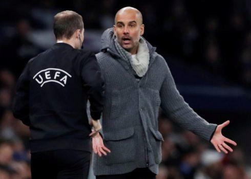 Guardiola, el martes en el Tottenham Hotspur Stadium.