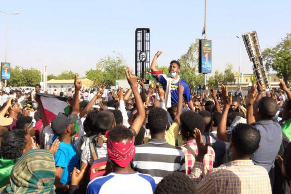 Manifestantes en Jartum, capital de Sudán.
