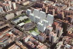 Proyecto de Residencial Acequia de Mestalla presentado por Adu Mediterráneo.