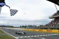 Línea de meta en Montmeló durante el último GP de España