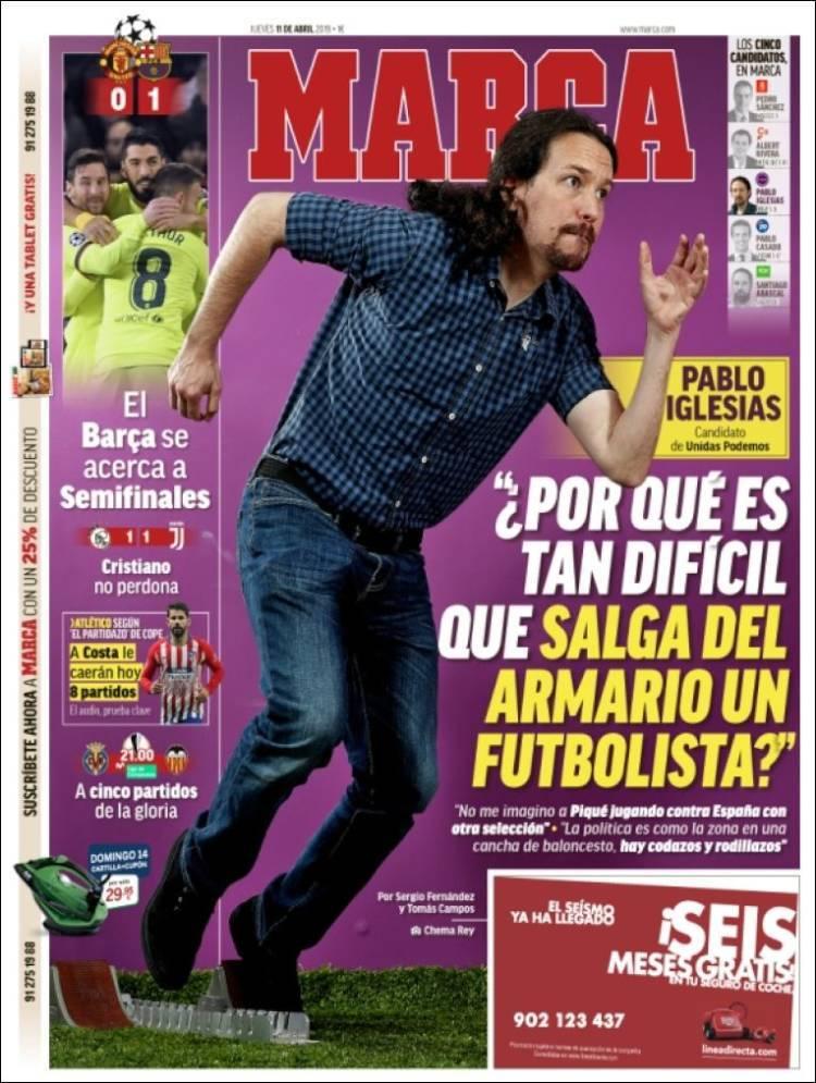 Las portadas de los periódicos deportivos del 11 de abril