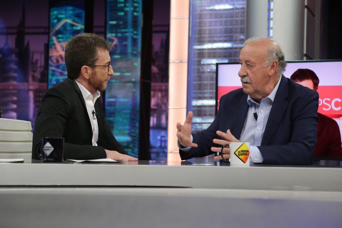 Pablo Motos preguntó a Vicente del Bosque por temas políticos en El Hormiguero de Antena 3 y el exseleccionador contó que había hablado con Pedro Sánchez