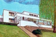 La villa Tugendhat dibujada por Agustín Ferrer en 'Mies'.
