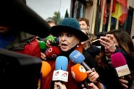Lucía Bosé, a la salida de la Audiencia Provincial, en noviembre pasado.