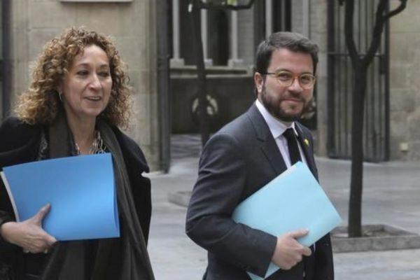 Pere Aragonés vicepresidente y Ester Capella, consellera de Justícia