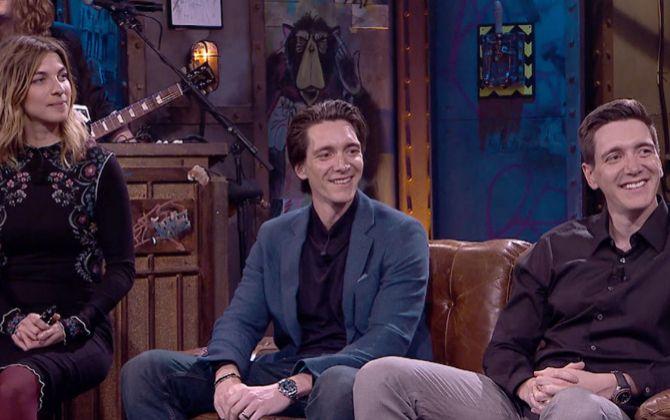 Natalia Tena, James Phelps y Oliver Phelps, actores de Harry Potter,...