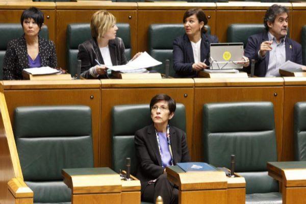 La consejera de Seguridad en el Parlamento Vasco.