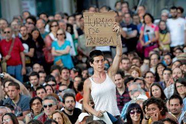 Acampada en la Puerta del Sol en las protestas del 15-M