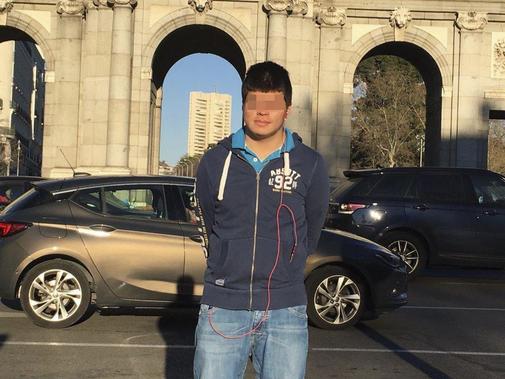 Andrés, que se suicidió con 17 años, en una imagen tomada en Madrid.