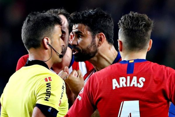 El delantero hispano-brasileño del Atlético de Madrid, Diego Costa...