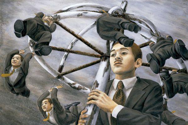 Bajo el paraguas del presidente de la Compañía, 1996.