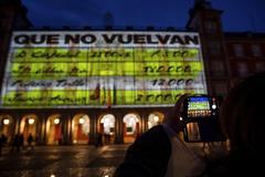 Sanción a Carmena y a Podemos por el vídeo de Bárcenas en la Plaza Mayor