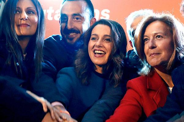 Inés Arrimadas, en el inicio de campaña de Ciudadanos en Barcelona.