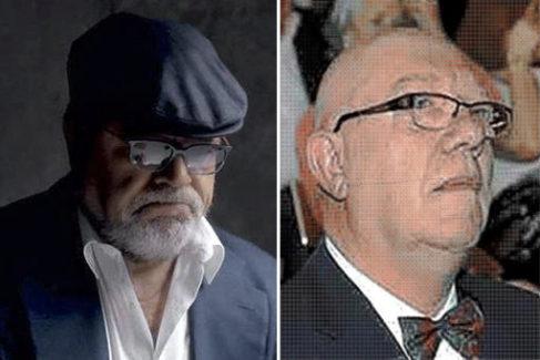 A derecha, el sacerdote Pedro Villarejo, hermano mayor del excomisario Villarejo (izquierda), actualmente encarcelado.