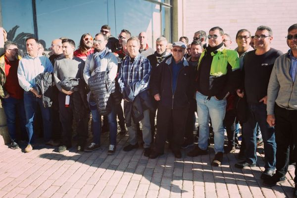 Los trabajadores de Es Murterar en una movilización de protesta el pasado mes de enero.