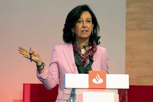 La presidente del Santander, Ana Botín.