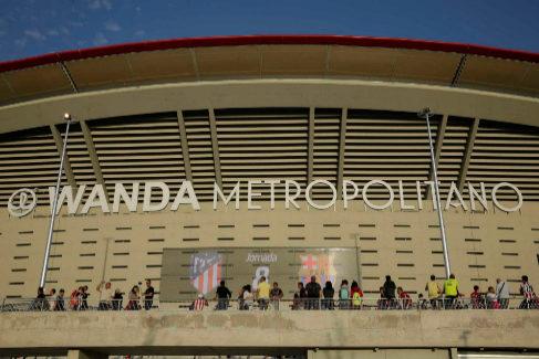 Entrada principal del estadio Wanda Metropolitano.