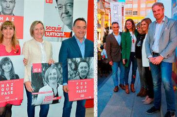 Los candidatos por Castellón del PSPV (izq.) y del PP (dcha.), este jueves.