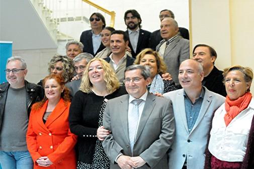 Autorides, personas de la cultura y artistas flamencos en la presentación de Caña Flamenca.