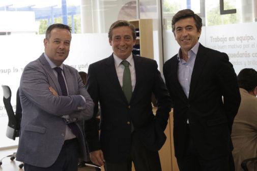 Luis M Martín, Alfredo Montero y Luis Garzón, socios fundadores de Lúmina.