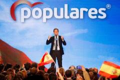 Pablo Casado, durante el acto del PP en Madrid.
