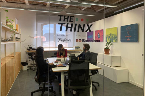 Unas de las salas del laboratorio The Think 5G Barcelona.