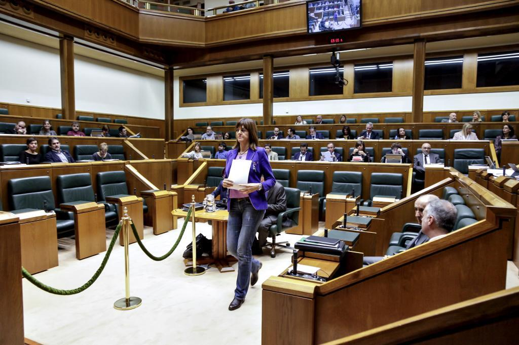 Imagen del pleno del Parlamento Vasco.
