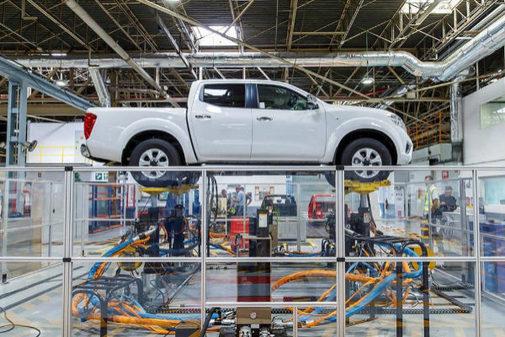 Imagen de la cadena de montaje de Nissan Zona Franca.