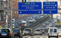 Intensidad de tráfico en al A-8 a su paso por Bilbao.