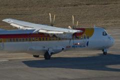 Uno de los aviones de la compañía Air Nostrum.
