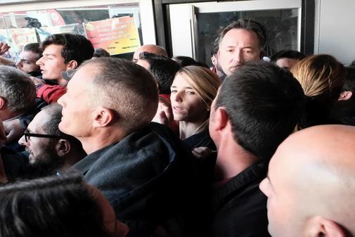 Escrache a Cayetana Álvarez de Toledo, en la UAB