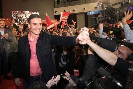 Pedro Sánchez, durante un acto del PSOE en Castellón