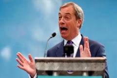 Nigel Farage, durante la presentación del Partido del Brexit, en Coventry.