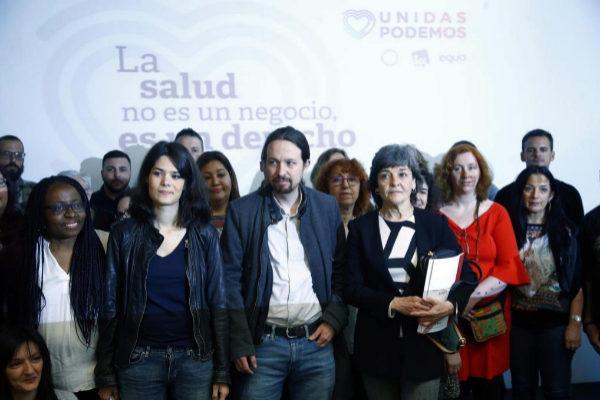 12/04/2019.Foto Javier Barbancho.Madrid Comunidad de Madrid. PODEMOS Pablo Iglesias presenta su candidatura con <HIT>Serra</HIT>