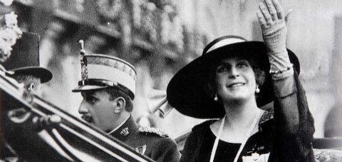 Visita del Rey Alfonso XIII con la Reina Victoria en 1922