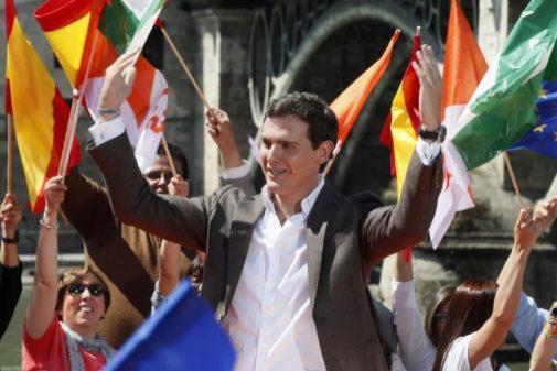 Albert Rivera, en el acto de campaña de este sábado en Sevilla