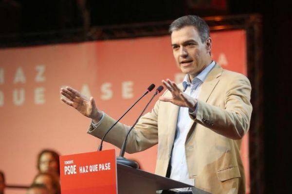 El presidente del Gobierno, Pedro Sánchez, en un acto en Tenerife.