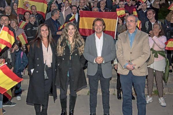 Los líderes de VOX en Baleares en el inicio de la campaña electoral.