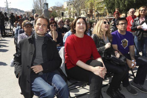 Antonio Moreno 14.04.2019 Barcelona Cataluña. Jaume <HIT>Asens</HIT> y Ada Colau en un acto de En Comun Podem para la generales 2019.