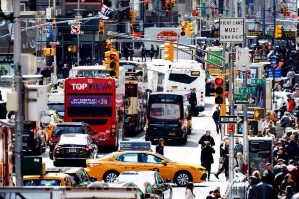 Tráfico en Times Square, Nueva York.