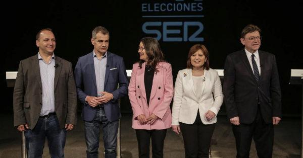 Los candidatos a presidir la Generalirat Valenciana, en el primer cara a cara.